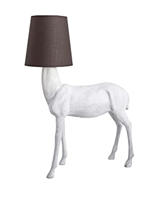 Applied Art Concepts Whitetail Floor Lamp, White