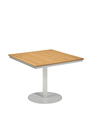 Oxford Garden Travira Square Bistro Table, Powder Coated Aluminum/Teak