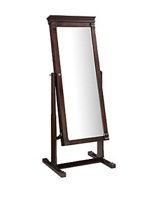 Linon Home Décor Angela Cheval Mirror, Walnut