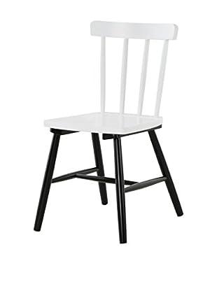 13 Casa Stuhl 2er Set Kaos G10 weiß/schwarz