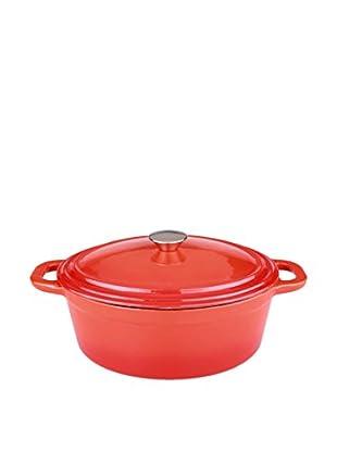 BergHOFF Neo 8-Qt. Cast Iron Oval Covered Casserole, Orange