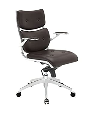 Modway Push Midback Office Chair, Brown