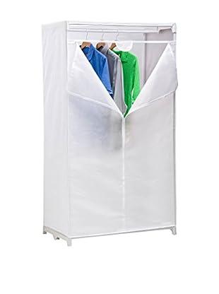 Honey-Can-Do Fabric Storage Closet with Window, White