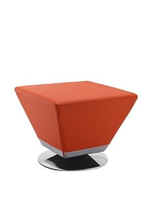 International Design USA Cube Ottoman, Orange
