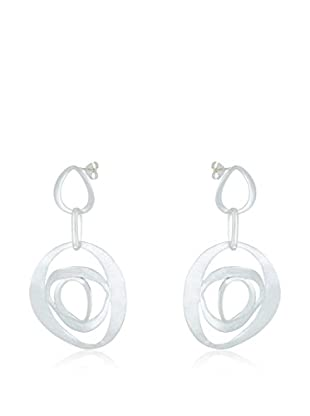 Silver One Pendientes Princess Roseta