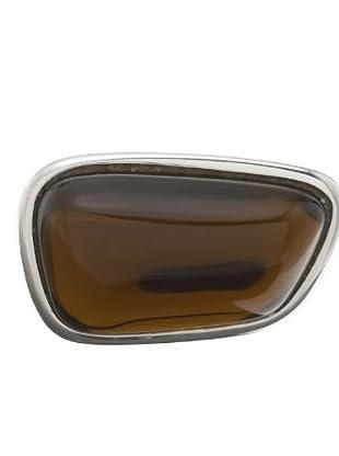 Esprit 44127299170 - Anillo de mujer de plata de ley (plata / marrón)
