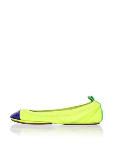 Yosi Samra Women's Colorblock Ballet Flat (Lemon/Lime/Cobalt)
