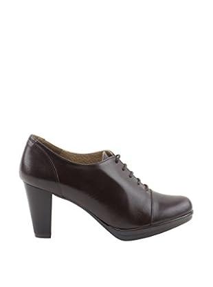 Liberitae Zapatos Abotinados Puntera (Marrón)