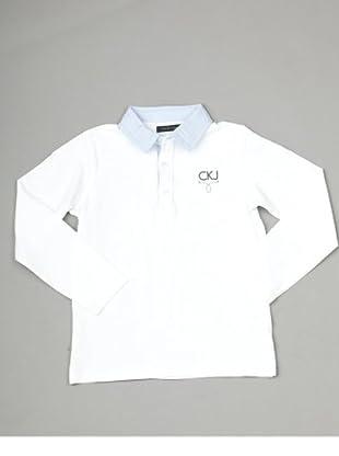 Calvin Klein Jeans Longsleeve Polo (Weiß)