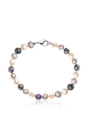 Compagnie générale des perles Braccialetto argento 925 rodiato/Rosa