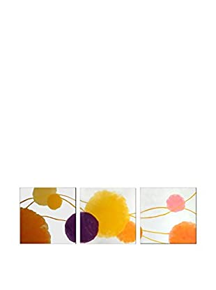 Legendarte Set Pintura al Óleo sobre Lienzo 3 Uds. Batuffoli Colorati