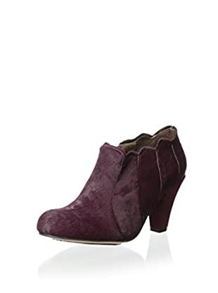 ALL BLACK Women's Pony Scalloped Bootie (Wine)