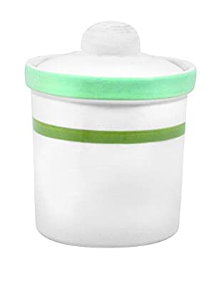 Canvas Home Medium Canister with Lid, Blue/Seafoam
