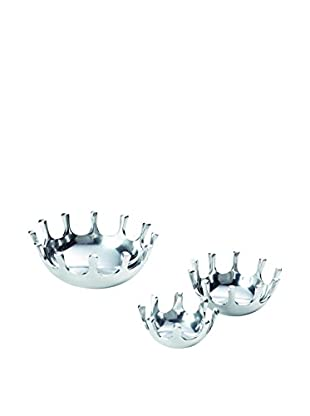 Torre & Tagus Set of 3 Splash Aluminum Bowls