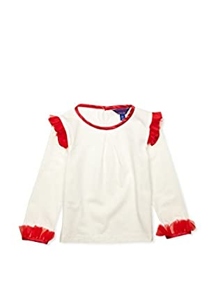 London Kiddy Camiseta Ruffle II (Blanco / Rojo)