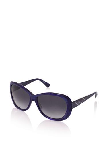 Judith Leiber Women's JL1036B 05 Geo Butterfly Sunglasses (Sapphire/Smoke)