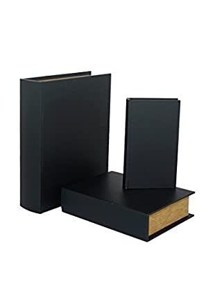 Three Hands Set of 3 Black Book Boxes