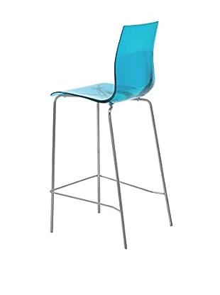 Domitalia Tall Gel Chair, Transparent Blue