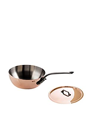 Mauviel M'heritage 1.7-Qt. Curved Splayed Sauté with Lid & Cast Iron Handle