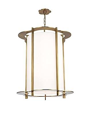 Hudson Valley Lighting Warwick 8-Light Chandelier, Aged Brass/White