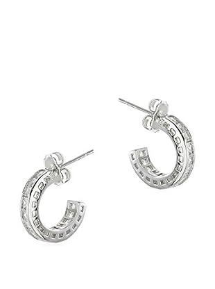 CZ by Kenneth Jay Lane CZ Mini Half Hoop Post Earrings