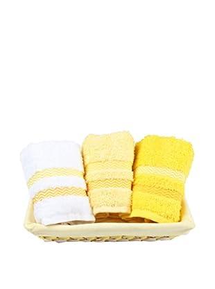Homemania Handtuch 3er Set Candy gelb 30 x 50 cm