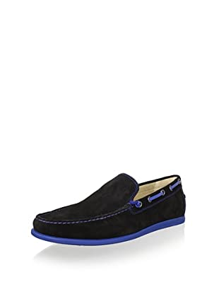 Donald J Pliner Men's Duke Loafer (Black/Indigo)