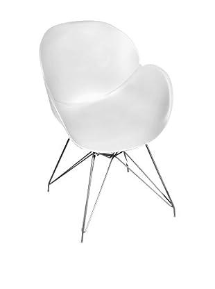 Glam Home Stuhl 2er Set Malaga weiß