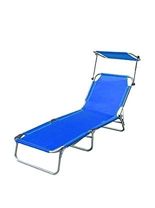 Galileo Casa Liegestuhl 4er Set blau