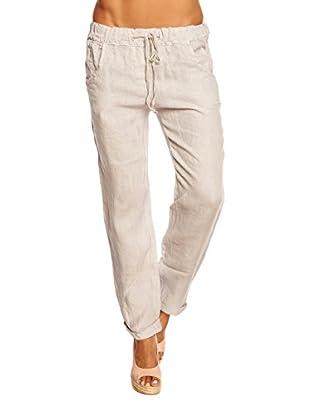 100% Linen Pantalón Diamand