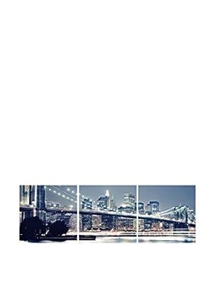 SuperStudio Leinwandbild 3 tlg. Set Light Bridge River
