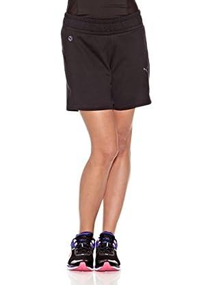 Puma Short E Sweat (Negro)