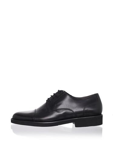 a.testoni BASIC Men's Cap-Toe Dress Shoe (Nero)
