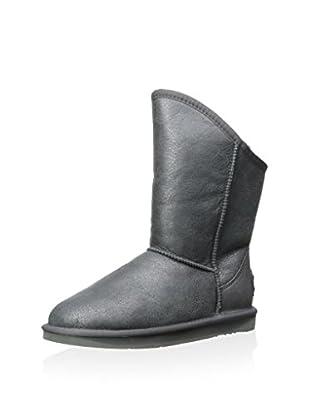 AUStralia Luxe Collective Womens Cosy Short Vintage Metallic Boot (Gunmetal)