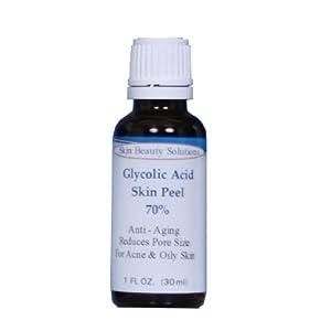 (1 oz / 30 ml) GLYCOLIC Acid 70% Skin Chemical Peel - Unbuffered - Alpha Hydr...