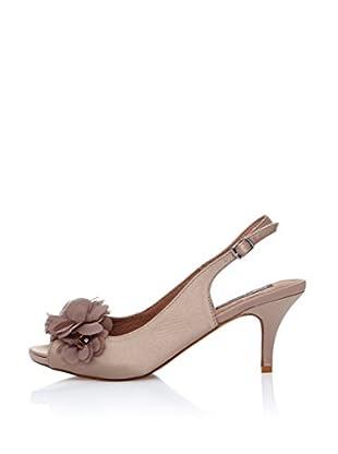 Furiezza Zapatos de talón abierto Flor