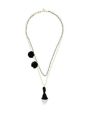 Twin Set Halskette  schwarz/goldfarben