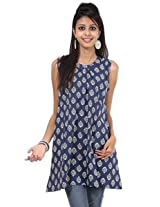 Rajrang Cotton Kurti - PTP00057 (Blue)