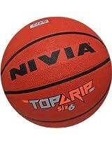 Nivia Top Grip Basketball, Size 6 (Brown)