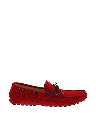 Mile Miglia Mocasines Con Cordón Hombre (Rojo)