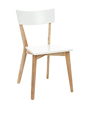 Contemporary Office Set Silla 2 Uds. Kyra Blanco/Natural