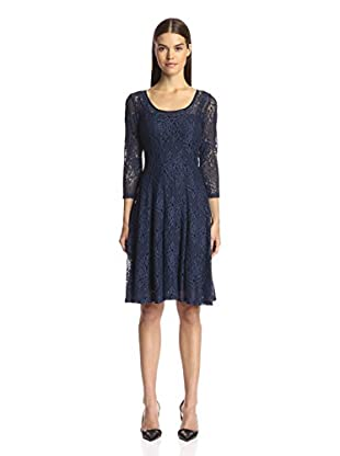 Chetta B Women's Lace Magic Fit & Flare Dress