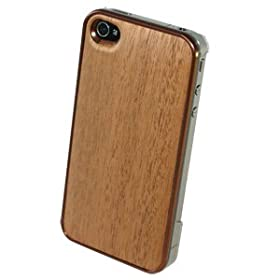 REAL WOODEN CASE COVER �uWoodGrain-�ؖ�-�v-�}�z�K�j�[- for iPhone4/iPhone4S