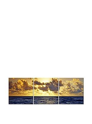 LO+DEMODA Leinwandbild 3 tlg. Set Sun & Sea