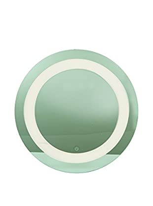 Access Lighting Spa 1-Light LED Round Vanity, Mirror/Frosted