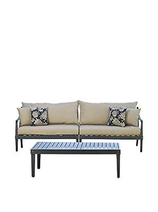 RST Brands Astoria 3-Piece Sofa & Coffee Table Set, Beige
