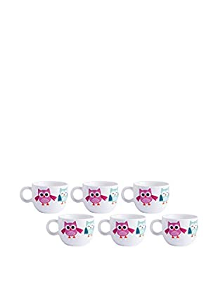 Teetassen-Set, 6-teilig 70 ml mehrfarbig