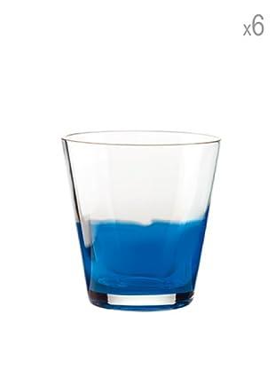Guzzini Set 6 Bicchieri Vino Blu