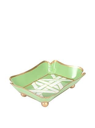 Jayes Cane Trinket Tray, Green