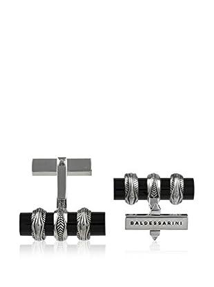 Baldessarini Manschettenknopf  rhodiniertes Silber 925/schwarz